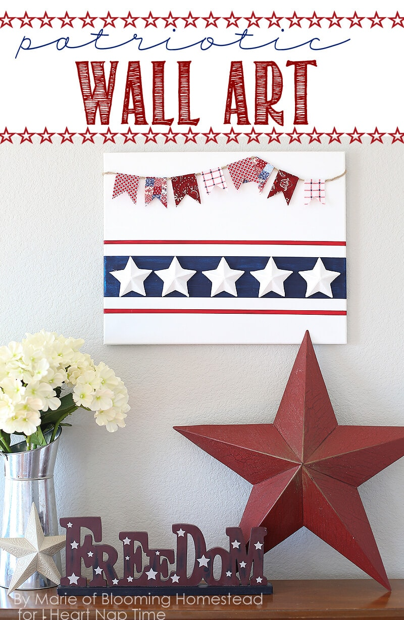 Patriotic wall art on iheartnaptime.com