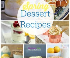 Spring Dessert Recipes