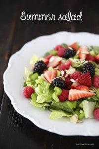 Summer berry salad