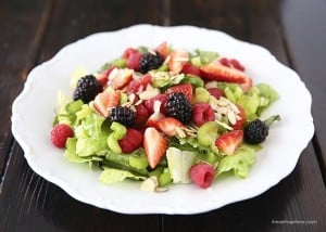 Summer salad with lemon dressing