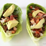 Taco lettuce wraps with avocado
