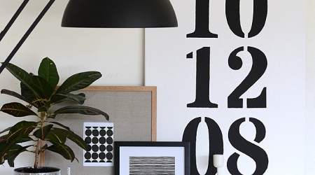 diy black and white marimekko art