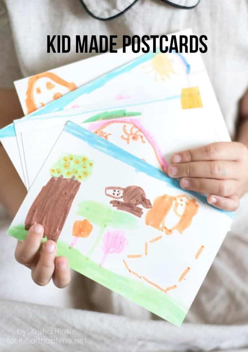 Kid made postcards
