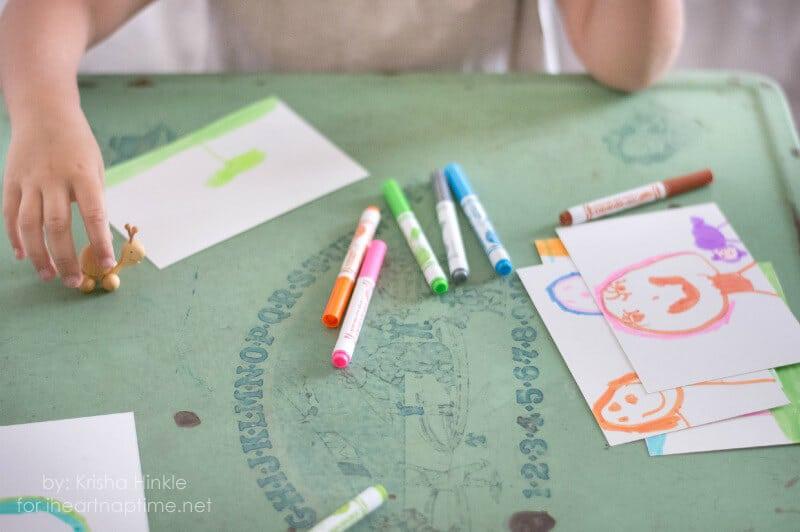 Kid Made Postcards on iheartnaptime.com