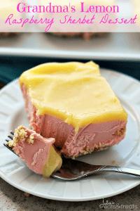 lemon raspberry sherbet dessert