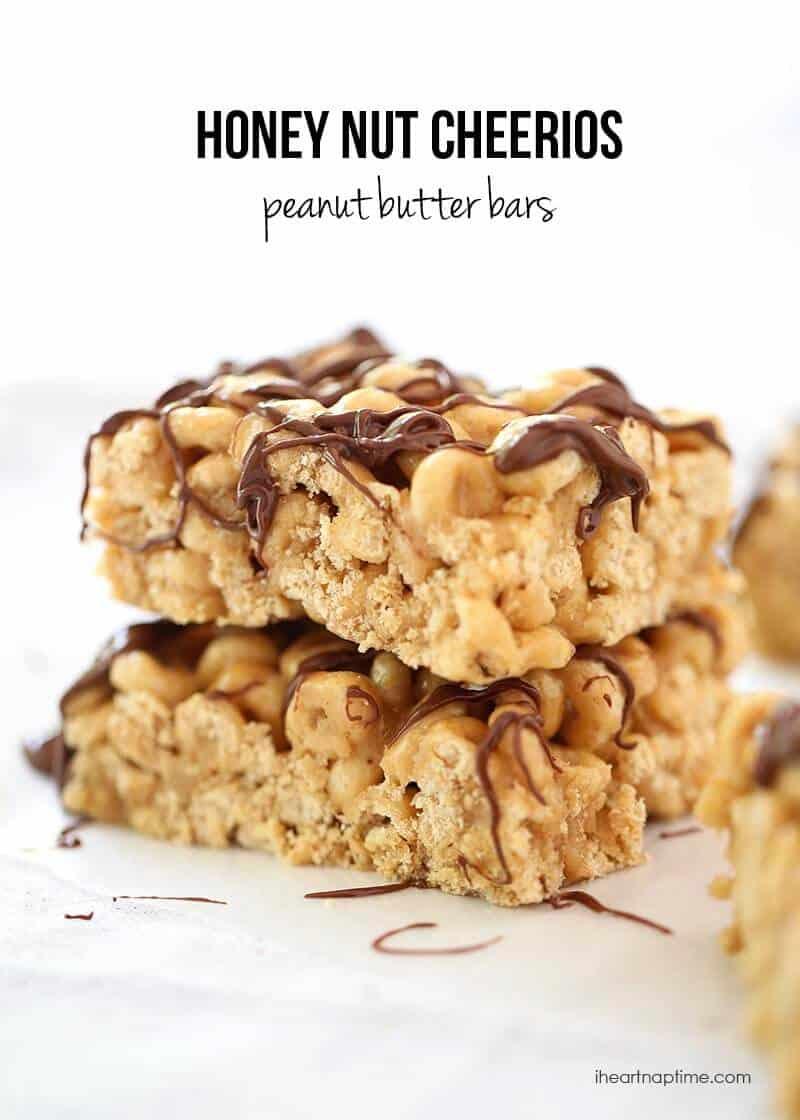 Honey nut cheerios peanut butter bars - I Heart Nap Time