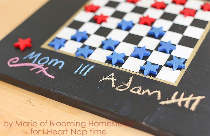 DIY Checker board game on iheartnaptime.com