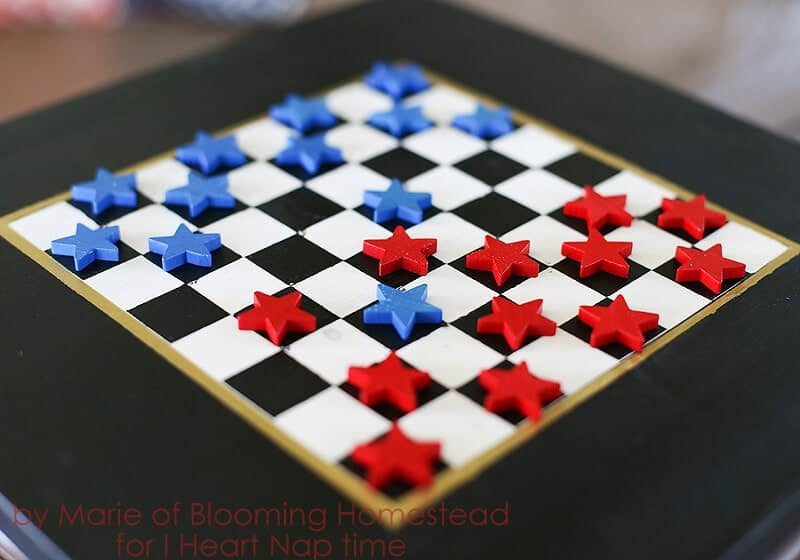 DIY Checkerboard Game - I Heart Nap Time