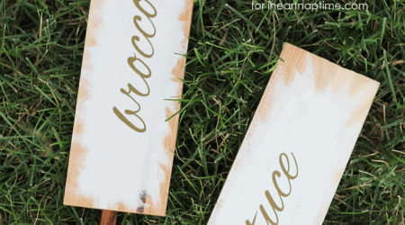 Learn how to make these beautiful garden marker signs for all your plants this summer! | by Love Grows Wild for iheartnaptime.com