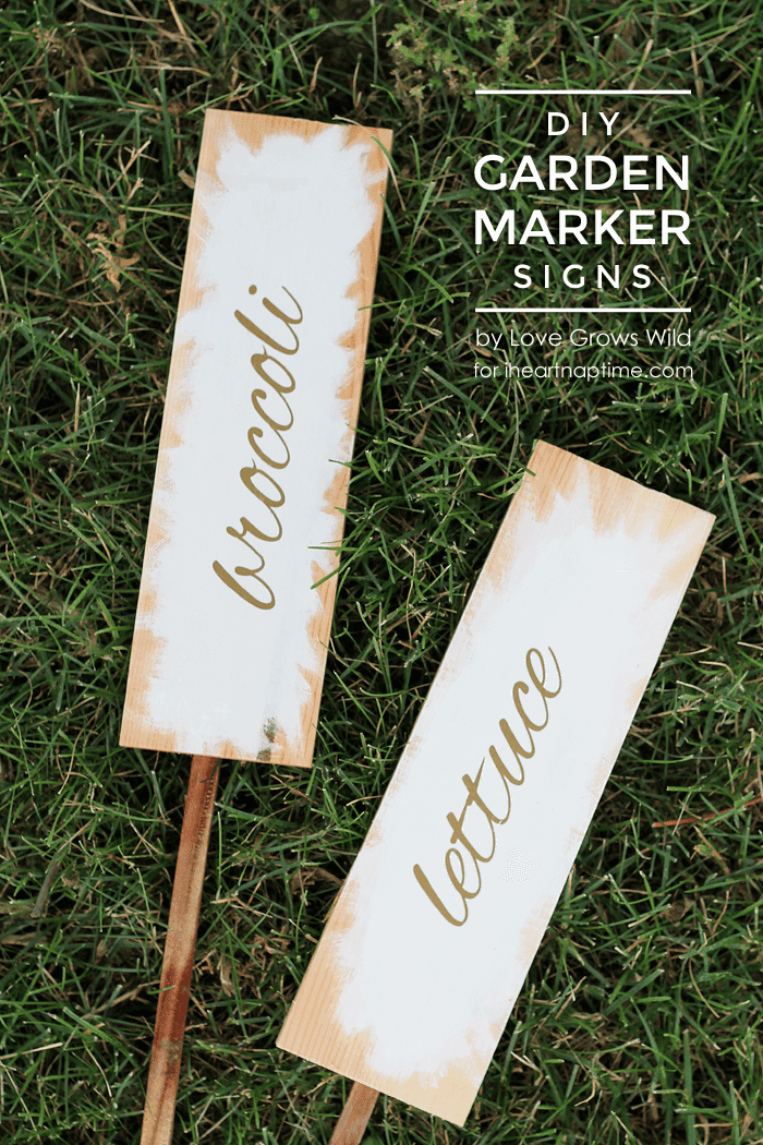 DIY Garden Marker Signs by Love Grows Wild on iheartnaptime.com