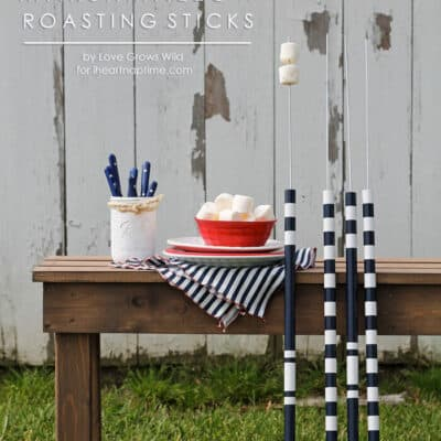 Make these DIY Marshmallow Roasting Sticks for summer bonfires! | Love Grows Wild for iheartnaptime.com