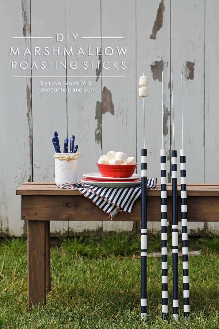 DIY Marshmallow Roasting Sticks on iheartnaptime.com