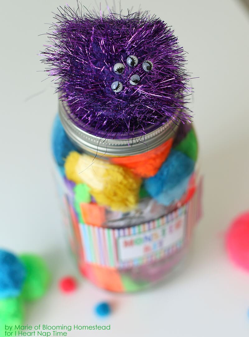 DIY Mason Jar Monster Kit by Blooming Homestead on iheartnaptime.com