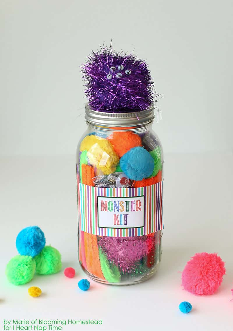 Small Centerpiece Kits : Diy mason jar monster kit hello summer i heart nap time