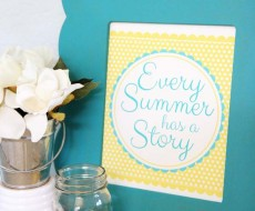 Every Summer Has a Story Print from Sweet Rose Studio