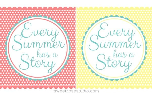Summer Printable from Sweet Rose Studio on iheartnaptime.com
