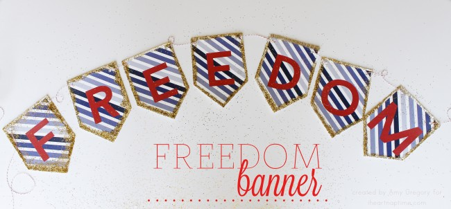 4th of July Freedom Banner on iheartnaptime.com