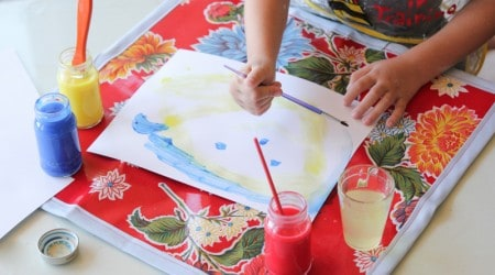 Wipeable Art Mat for Kids