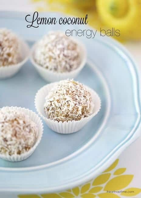 Lemon coconut no bake energy balls