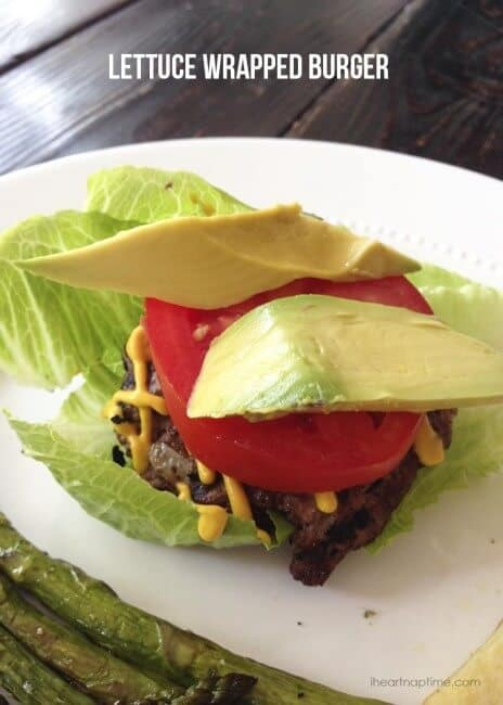 Lettuce wrapped burger