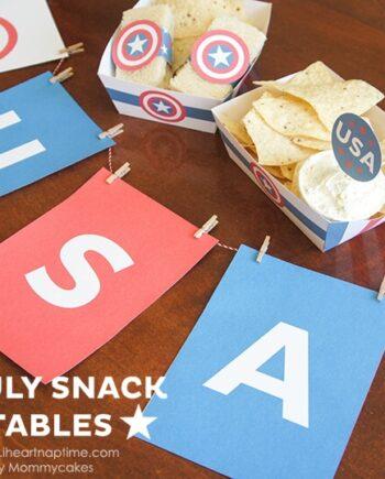 Fourth of July Snack Printables on www.iheartnaptime.com #fourthofjuly #freeprintables