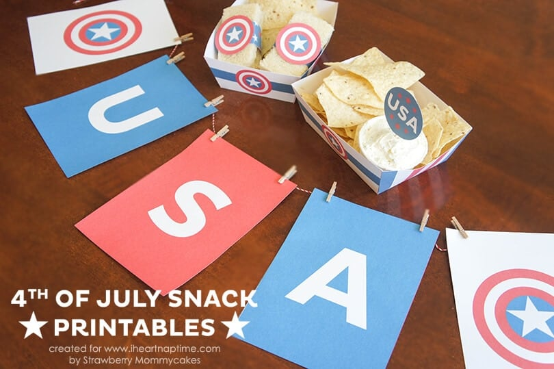 Fourth of July Snack Printables on www.iheartnaptime.com #fourthofjuly #freeprintables
