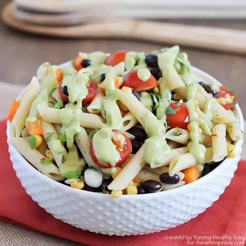 Southwestern Pasta Salad on iheartnaptime.com