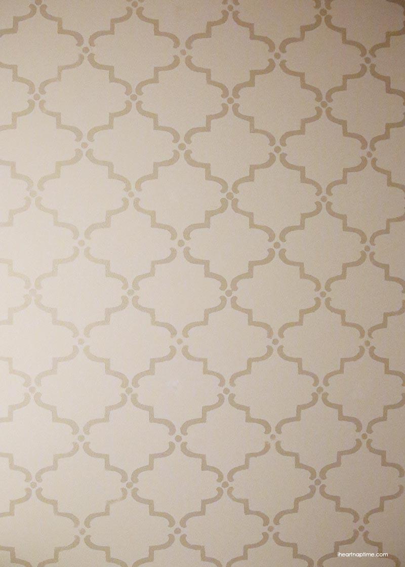 Stenciled pattern