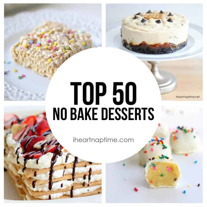 Top 50 No Bake Desserts (featured)