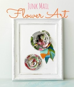 junk mail flower art