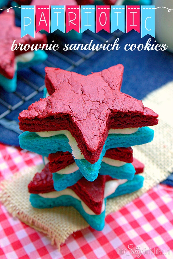 patriotic brownie sandwiches
