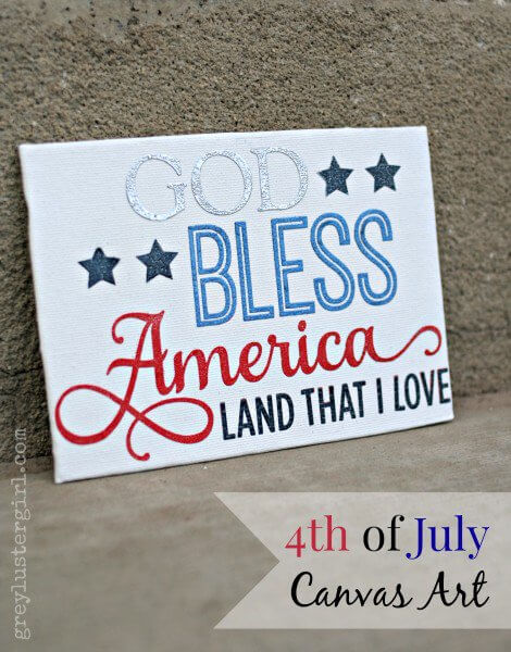 patriotic canvas painting