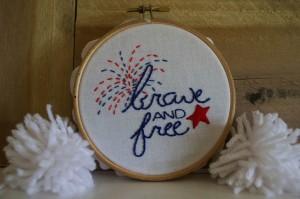patriotic stitching