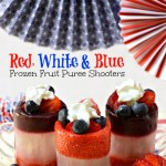 red white and blue puree shooters