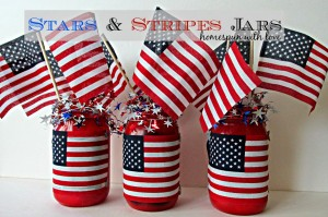 stars and stripes mason jars