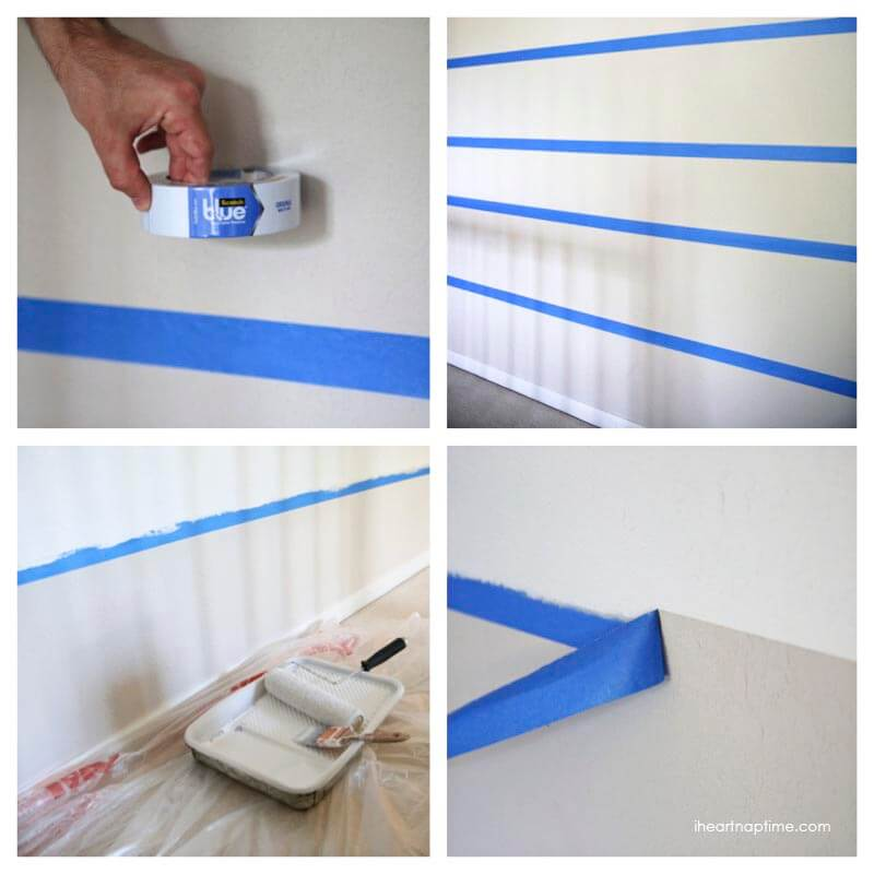 stripe painting with scotch blue