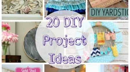 20 DIY Project Ideas {Link Party Features}