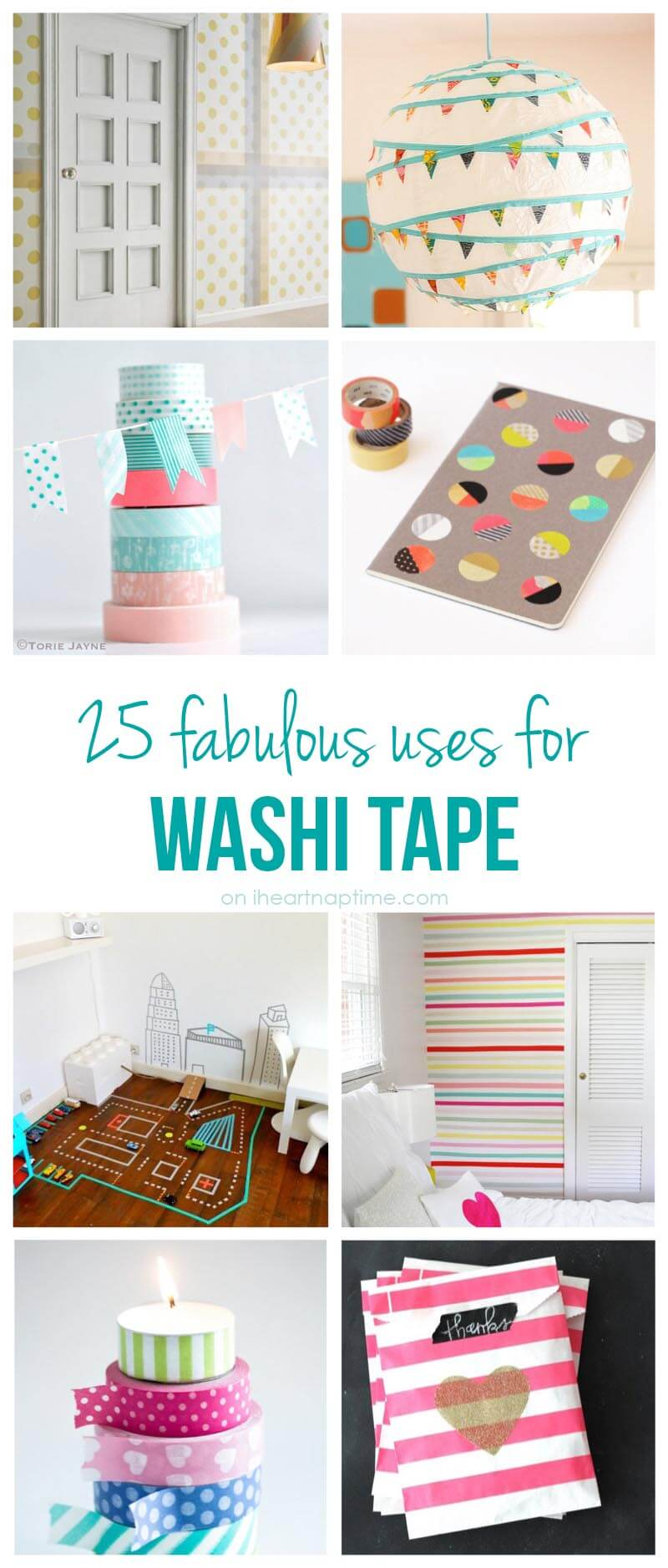 25 excellent uses for washi tape i heart nap time. Black Bedroom Furniture Sets. Home Design Ideas