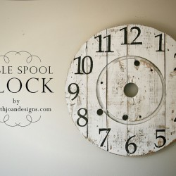 Cable spool clock