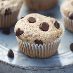 Chocolate chip zucchini muffins