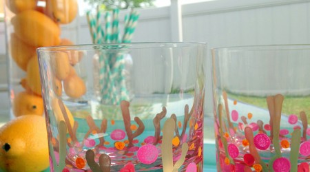 DIY Coral Reef Confetti Glasses {Hello Summer}