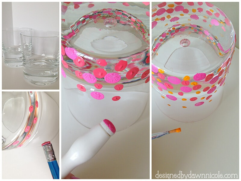 DIY Coral Reef Confetti Glasses from Designed by Dawn Nicole on iheartnaptime.com