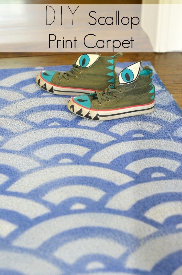 DIY Scalloped Carpet