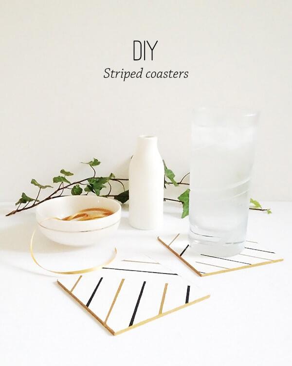 DIY Striped Coaster