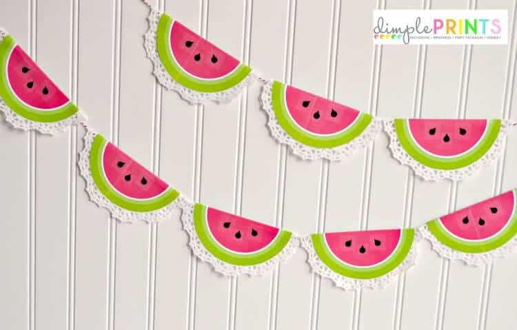 Doiley Watermelon Garland from DimplePrints