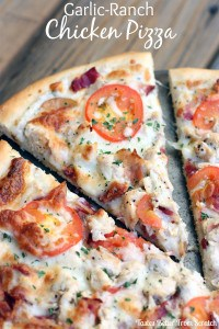 Garlic Ranch Chicken Pizza 1