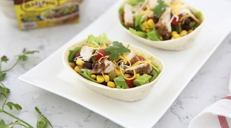 Grilled chicken taco bowls