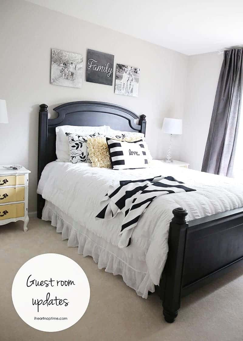 Guest room updates + free printables on iheartnaptime.com