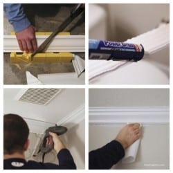 How to install crown molding steps