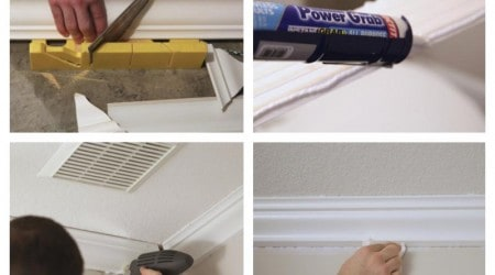 How to install crown molding +bath update